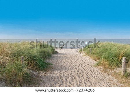 beach in summer at the baltic sea, germany - stock photo