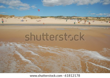 beach in the blue sky - summer time - stock photo