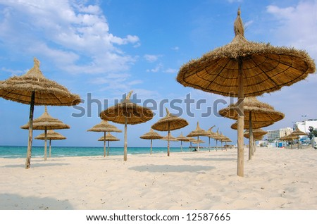Beach in the city of Suss. Africa, tunis.