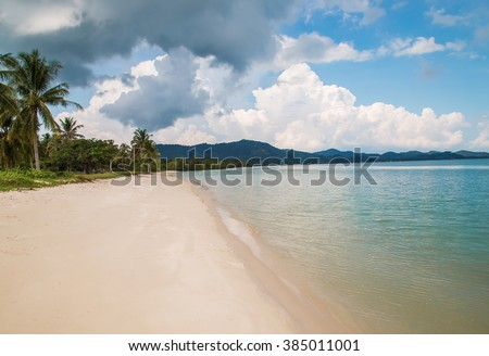 Beach in tropical paradise. Koh Yao Yai, Thailand, Asia. - stock photo