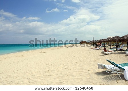 Beach in Turks and Caicos - stock photo