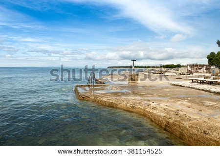 Beach in Umag, Istria, Croatia