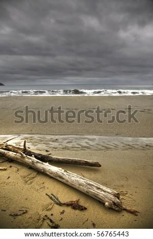 beach in winter - stock photo