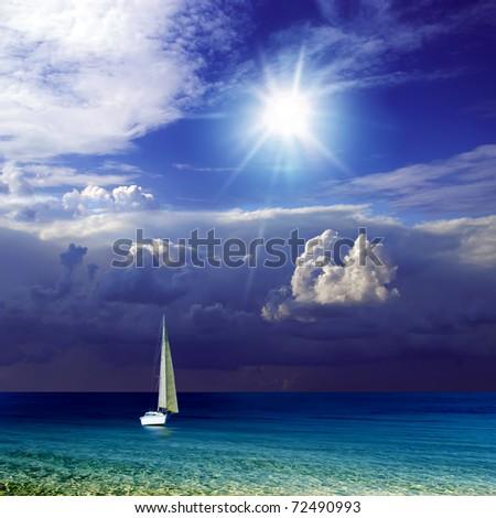 Beach. Landscape. - stock photo