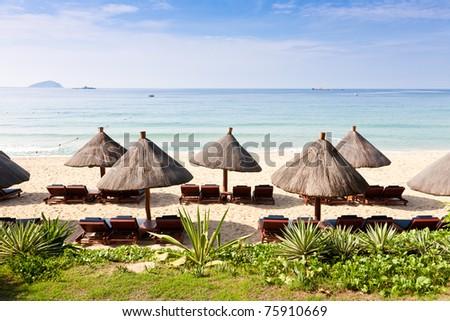 Beach landscape - stock photo