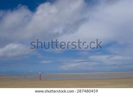 Beach Landscape Sylt, Germany - stock photo