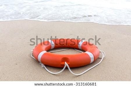 Beach Lifebuoy - stock photo