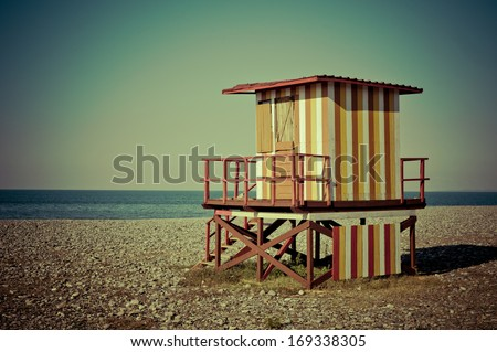 Beach Lifeguard House - stock photo