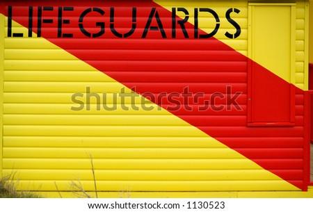 Beach Lifeguard hut - stock photo