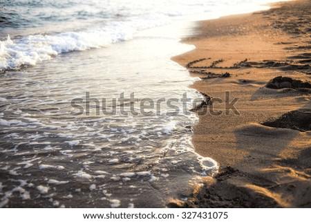 beach love - stock photo
