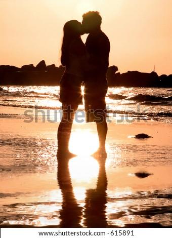Beach Lovers_2 - stock photo