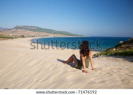 beach named Bolonia at Cadiz Andalusia in Spain - stock photo