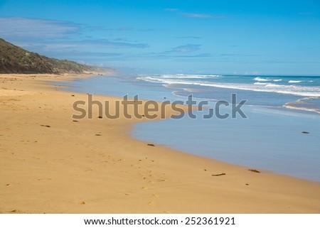 Beach near the Great Ocean Road in Australia. - stock photo