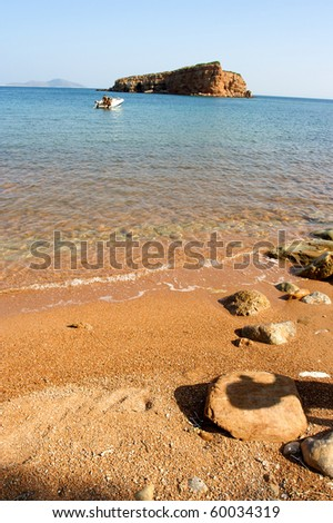 beach of alonissos, sporades, greece - stock photo
