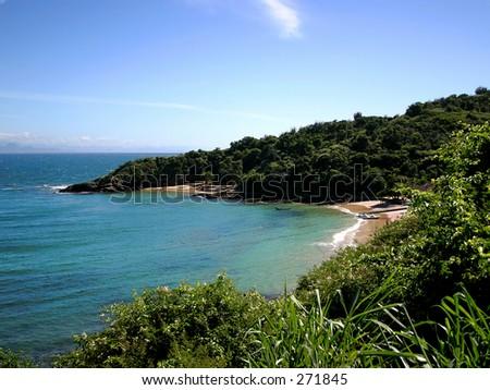 beach of azeda, in buzios, rio de janeiro, brazil - stock photo