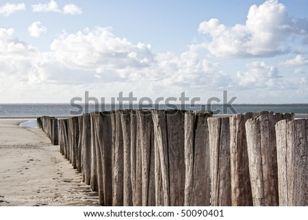 beach of baltic sea - stock photo