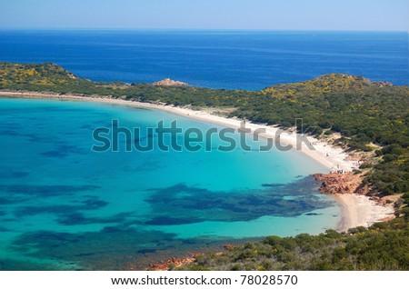 Beach of Coda Cavallo - stock photo