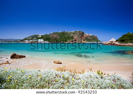 beach of Featherbed nature reserve, Knysna, South Africa - stock photo
