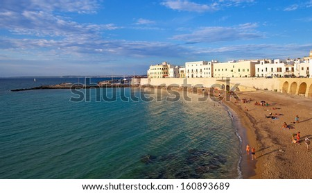 Beach of Gallipoli, Italy - stock photo