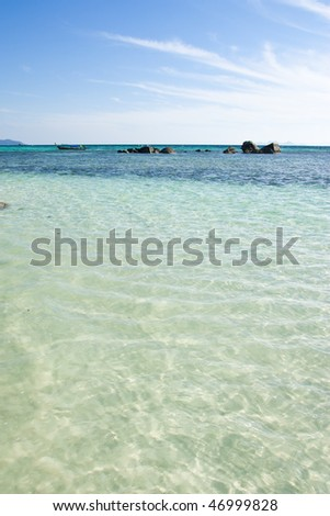 Beach of Lipe island, south of Thailand