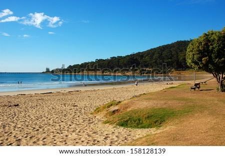 Beach of Lorne, Great Ocean Road, Australia - stock photo