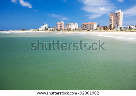 beach of Port Elizabeth, South Africa - stock photo
