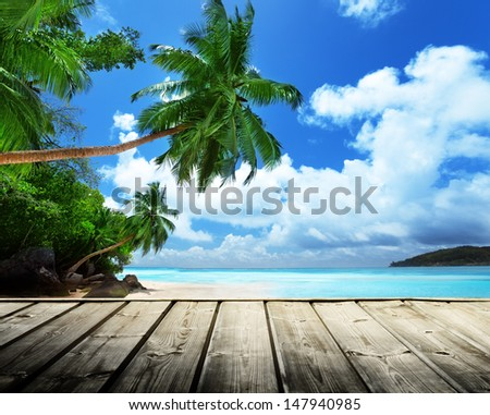 beach of Seychelles  - stock photo