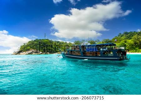 Beach of Similan Islands at Phang Nga in Thailand  - stock photo