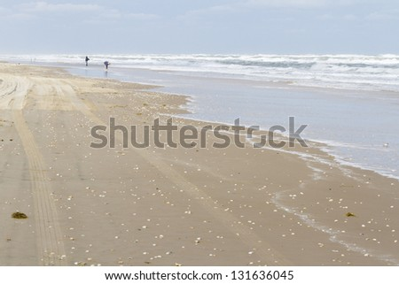 Beach of South Padre Island, TX.