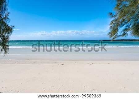 Beach of the Antsiranana bay (Diego Suarez), northern Madagascar - stock photo