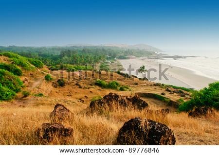 Beach on an ocean coast - stock photo