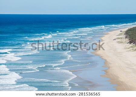 beach on islands for background