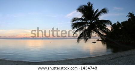 Beach on Ko Pha-Ngan island in southern Thailand. - stock photo
