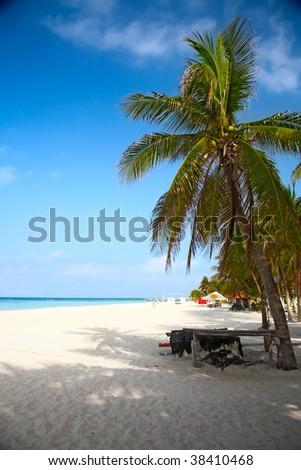 beach on the Isla Mujeres, Mexico - stock photo