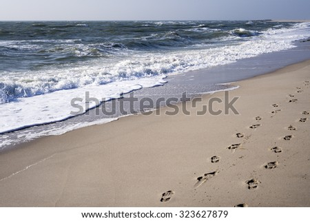 Beach on the island of Sylt, Germany - stock photo