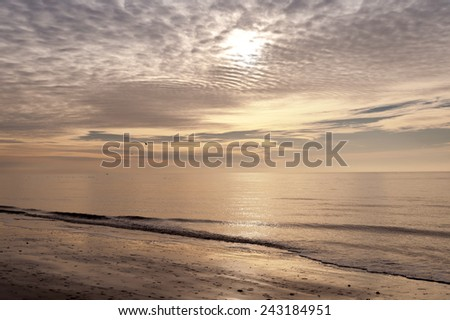 Beach on the North Frisian Island Amrum in Germany - stock photo