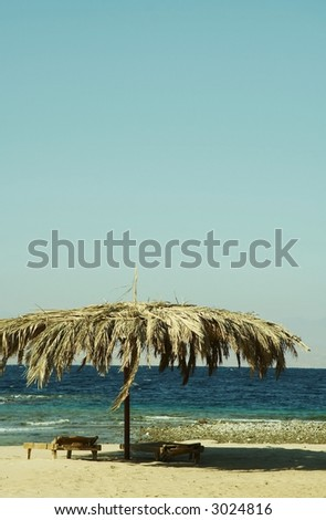 Beach on the Red sea - stock photo
