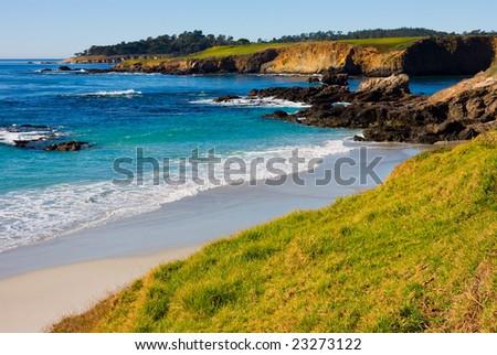 Beach on the sunny day - stock photo