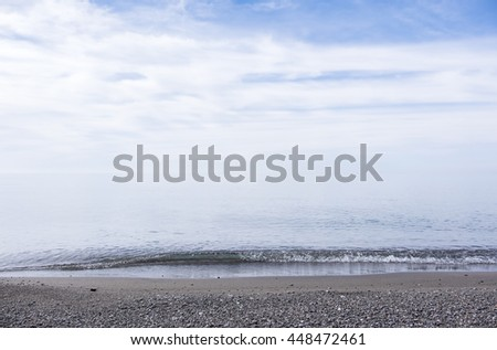 Beach Overlooking Lake Erie, One of the Great Lakes