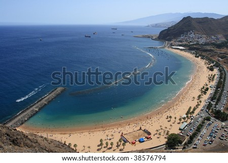 Beach overview - stock photo