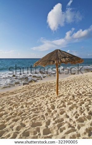 Beach Palapa - stock photo