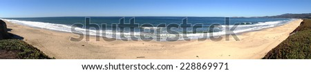 Beach panorama. - stock photo