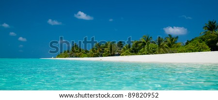 beach panorama - stock photo