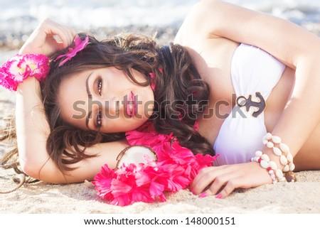 Beach paradise - stock photo