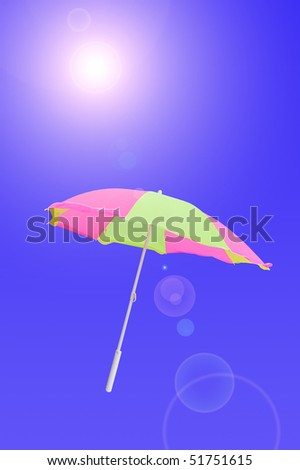 beach parasol under the sun