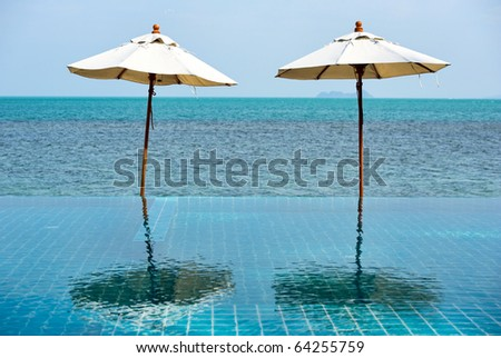 Beach parasols - stock photo