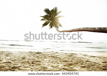 Beach Peaceful Vacations Summer Concept - stock photo