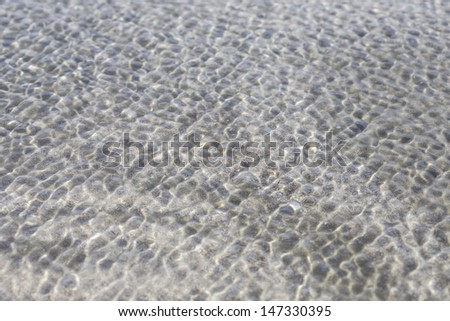 beach perfect white sand water - stock photo