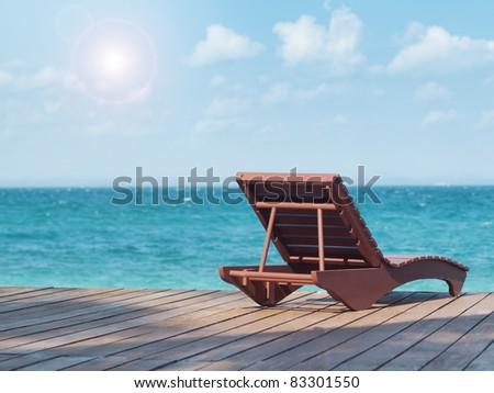 Beach resort - stock photo