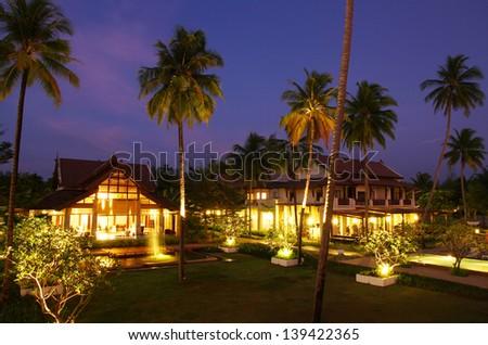 Beach resort, Thailand - stock photo